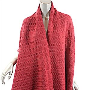 CIVIDINI Raspberry Red Cashmere Cable Weave Vest